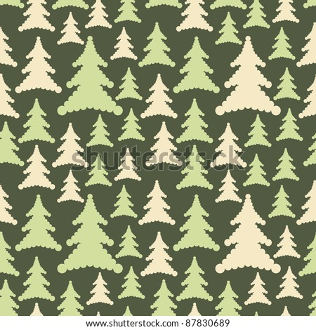 Trees seamless - stock vector