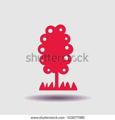 Trees vector icon, vector illustration. Flat design style - stock vector