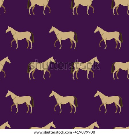 trend pattern horse vector seamless