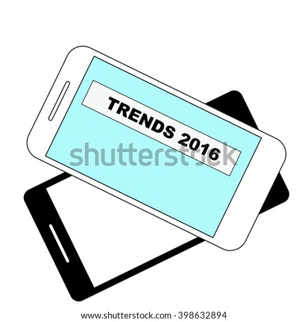 trends for 2016 - text on smartphone