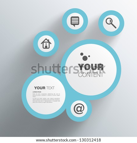 Trendy Abstract 3D Geometrical Design - stock vector
