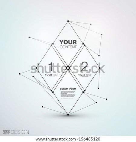 Trendy Abstract Vector Design - stock vector