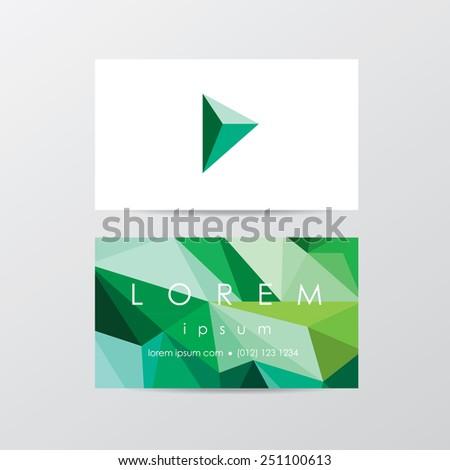 trendy business card mockup templates company stock vector 251100613