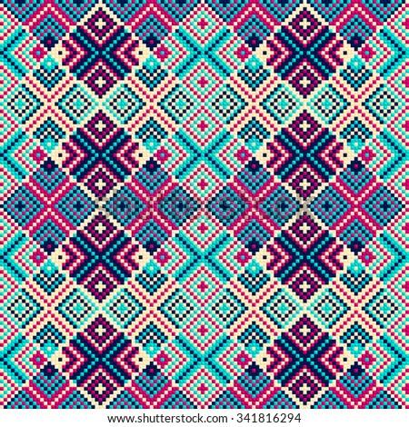 Aztec Native Texture Vector Art Stock Vector 189841421