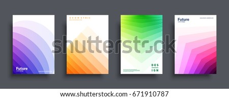 Trendy covers design. Simple shapes multiply on white backgrounds. Eps10 vector.