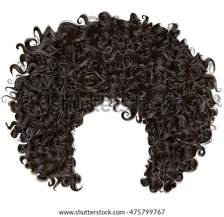 Afro Hair Vector Wig Stock Images, Roya...