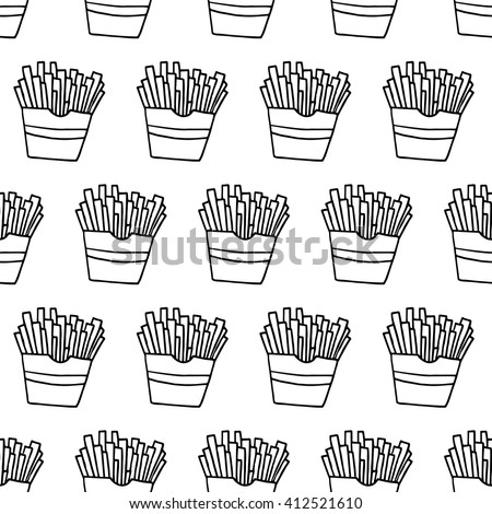 Fry box stock images royalty free images vectors for French fries packaging template