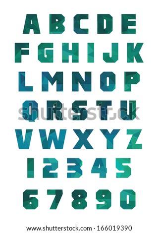 Trendy geometric font - stock vector