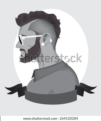 Trendy Hipster Men  - stock vector