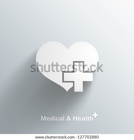 Trendy Medical Symbol With Transparent Shadow EPS10 - stock vector
