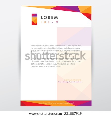 Trendy multicolored letterhead design template business stock vector trendy multicolored letterhead design template for business presentations with letter i logo element spiritdancerdesigns Images