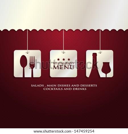 trendy Restaurant Menu  - stock vector