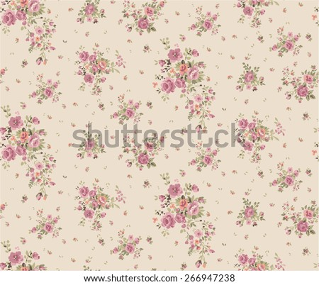 Trendy Seamless Floral Pattern in vector - stock vector