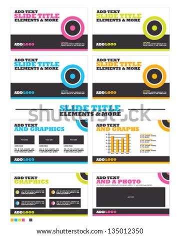 Trendy Slide and Presentation Titles - stock vector