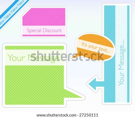 Trendy striped badges - stock vector