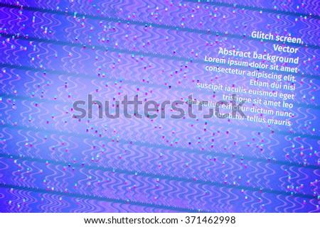 trendy theme digital screen glitch vector background - stock vector