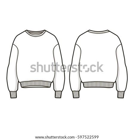 Trendy Women Sweatshirt Vector Sweatshirt Template Stock Vector HD ...