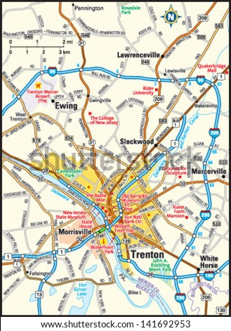 New Jersey Road Map Stock Images RoyaltyFree Images Vectors - New jersey road map