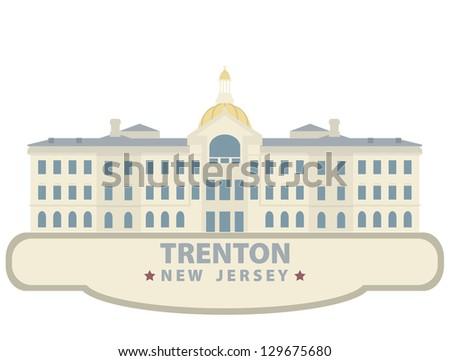 Trenton. Symbol city - stock vector