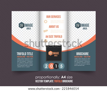 Tri-fold Brochure and Catalog Vector Concept Template  - stock vector
