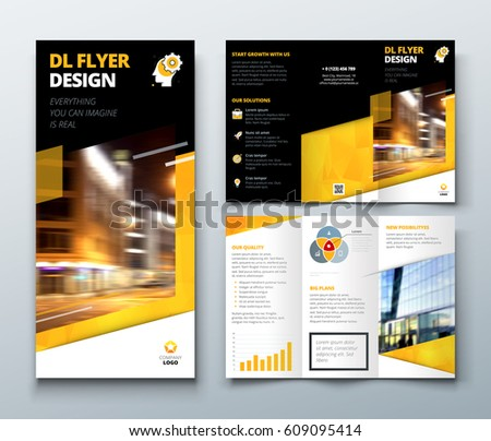 Tri Fold Brochure Design Dl Corporate Stock Vector 611587724