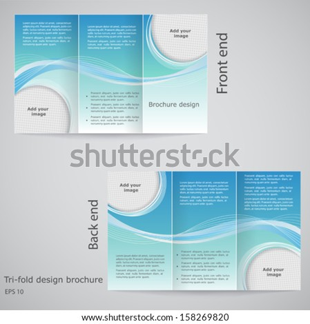 Three fold stock photos royalty free images vectors for Brochure templates tri fold