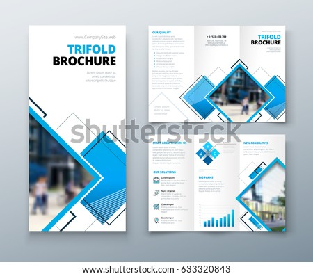 Tri Fold Brochure Design Corporate Business Stock Vector
