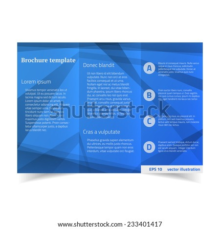 Tri-fold brochure design template. Vector illustration.