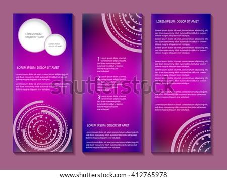 Tri fold brochure design.Vector brochure template. - stock vector