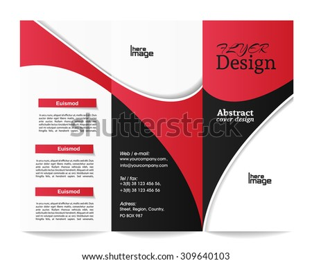 Trifold Brochure Template Stock Vector Shutterstock - Folded brochure template