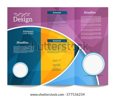 Tri-fold Brochure Template.Corporate business background or cover design can be use for publishing, print and presentation.