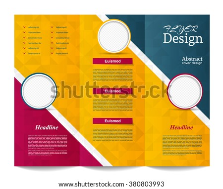 tri fold brochure templatecorporate business background or cover design can be use for