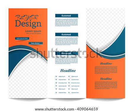 Trifold Brochure Template Corporate Business Background Cover Stock
