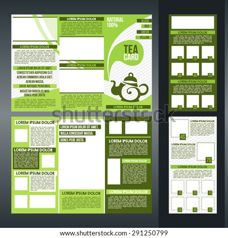 Tri Fold Brochure Template Design For Tea Shops Or Cafe