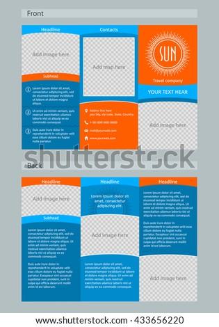 Tri Fold Brochure Template On Theme Stock Vector 433656220 ...
