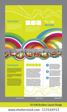 Tri Fold Business Brochure Pamphlet Template Stock Vector 113166913