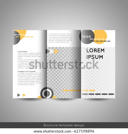 tri fold business or educational brochure template design stock vector