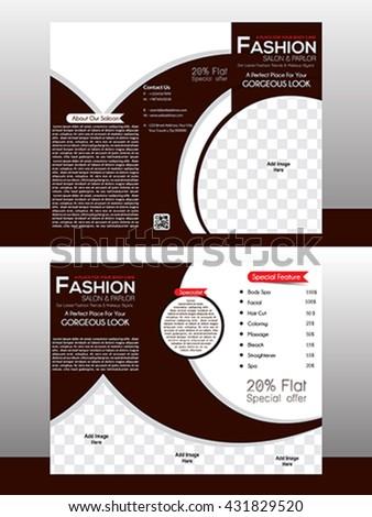 Tri Fold Fashion Brochure Template Design Stock Vector 431829520