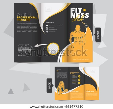 Fitness Brochure Stock Images RoyaltyFree Images  Vectors