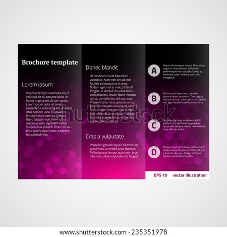 technology brochure template - elegant business brochure template stock vector 277218344
