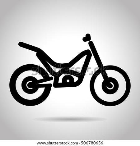 trials bike icon stock vector 506780656 shutterstock. Black Bedroom Furniture Sets. Home Design Ideas