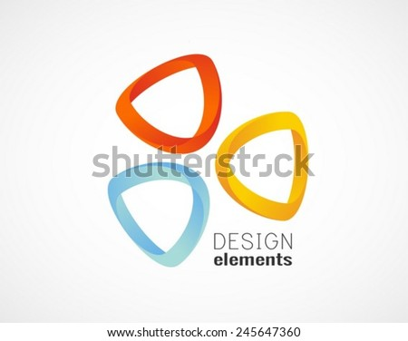 Triangle abstract logo template icon - stock vector