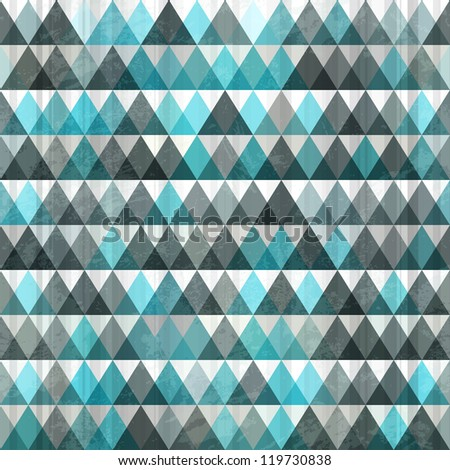 triangle blue seamless - stock vector