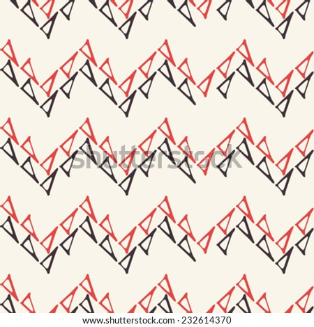 Triangle contour chevron background. Seamless pattern. Vector. - stock vector