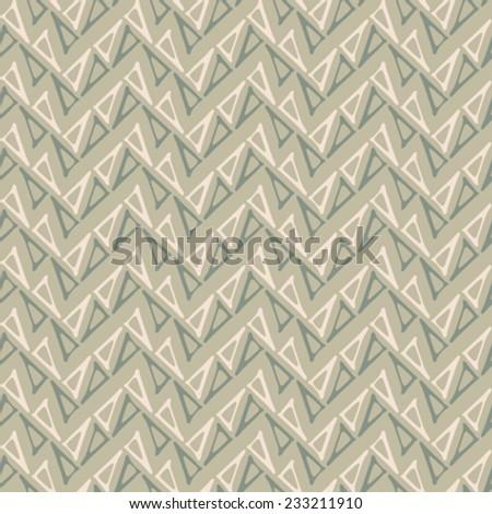 Triangle contour chevron neutral background. Seamless pattern. Vector.  - stock vector