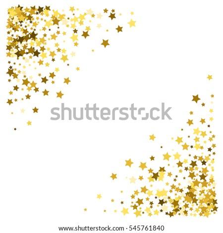 Foiled Gold Stars Frame Stars Scattered Stock Photo 336767972