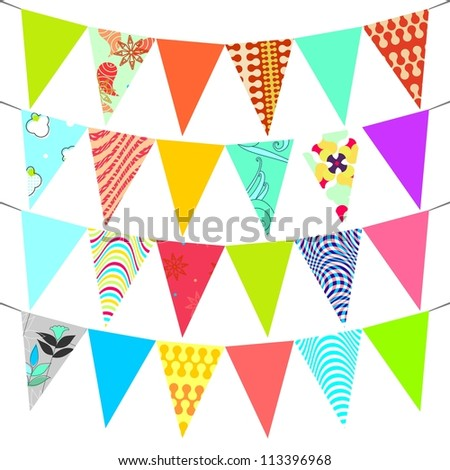 Triangle Decorative Flags Triangle Flags Garland Vector