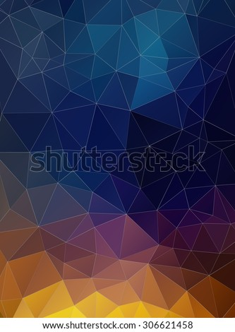 Triangle flat geometric colorful background for web - stock vector