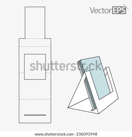 Triangle folder display - stock vector