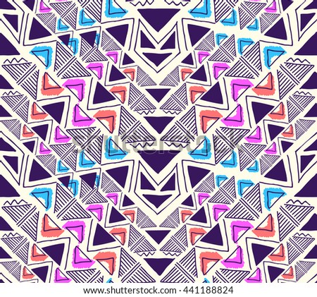 Triangle geo pattern design ~ seamless background - stock vector